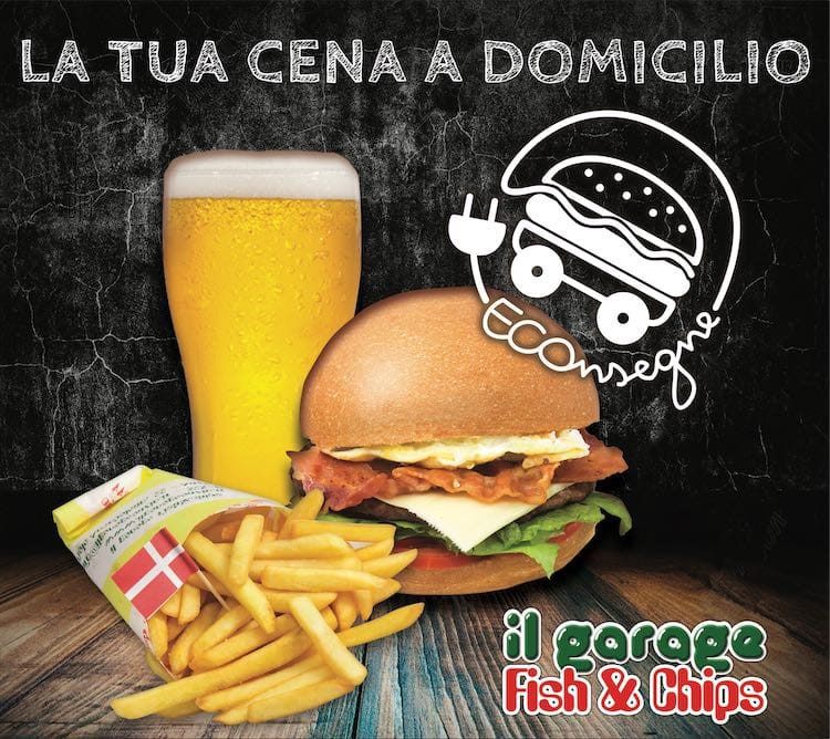 ECOnsegne a domicilio by Fish&Chips il Garage Anzio
